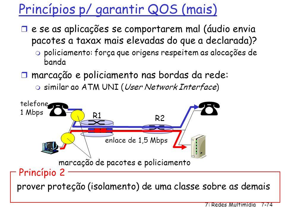 Princípios p/ garantir QOS (mais)
