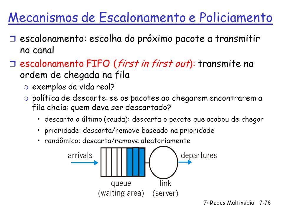 Mecanismos de Escalonamento e Policiamento