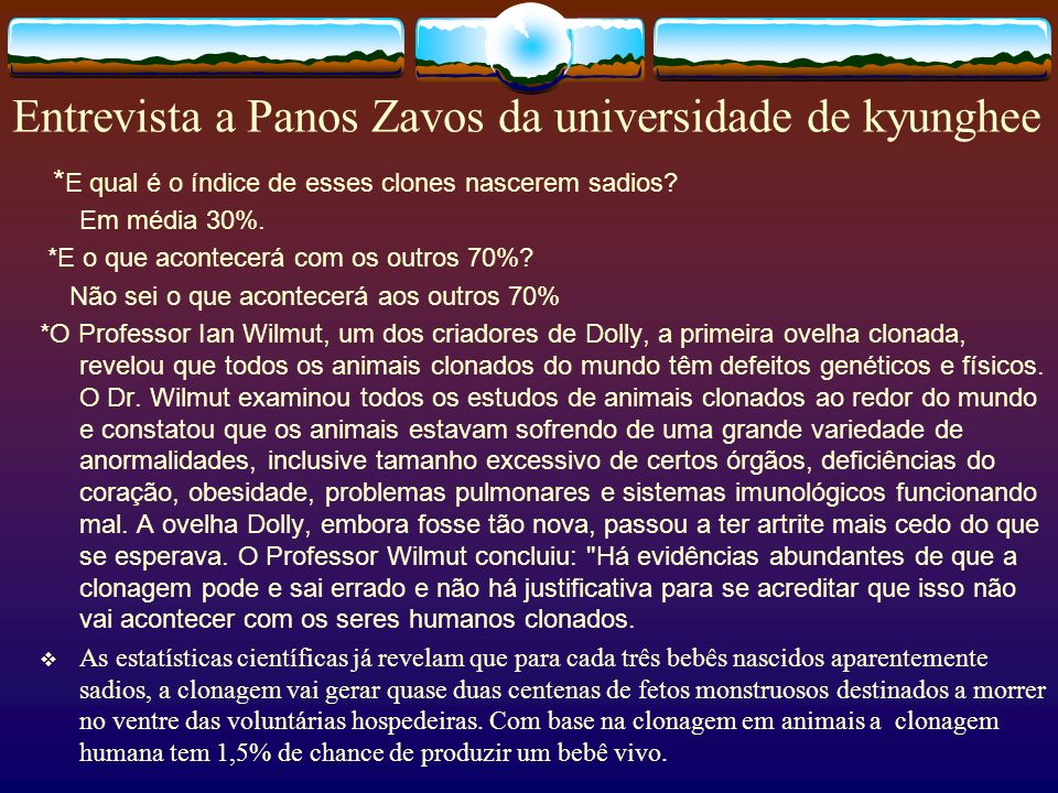 Entrevista a Panos Zavos da universidade de kyunghee