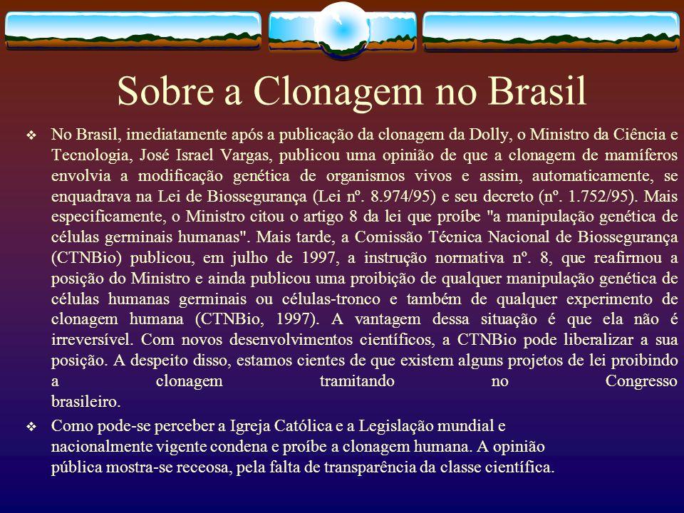 Sobre a Clonagem no Brasil