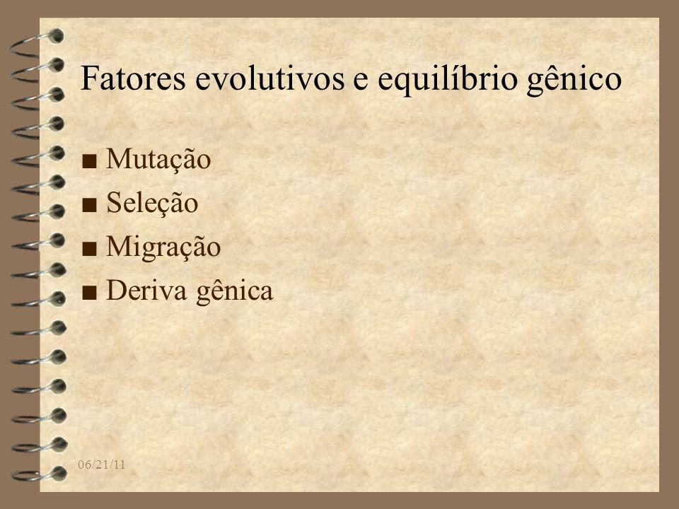 Fatores evolutivos e equilíbrio gênico