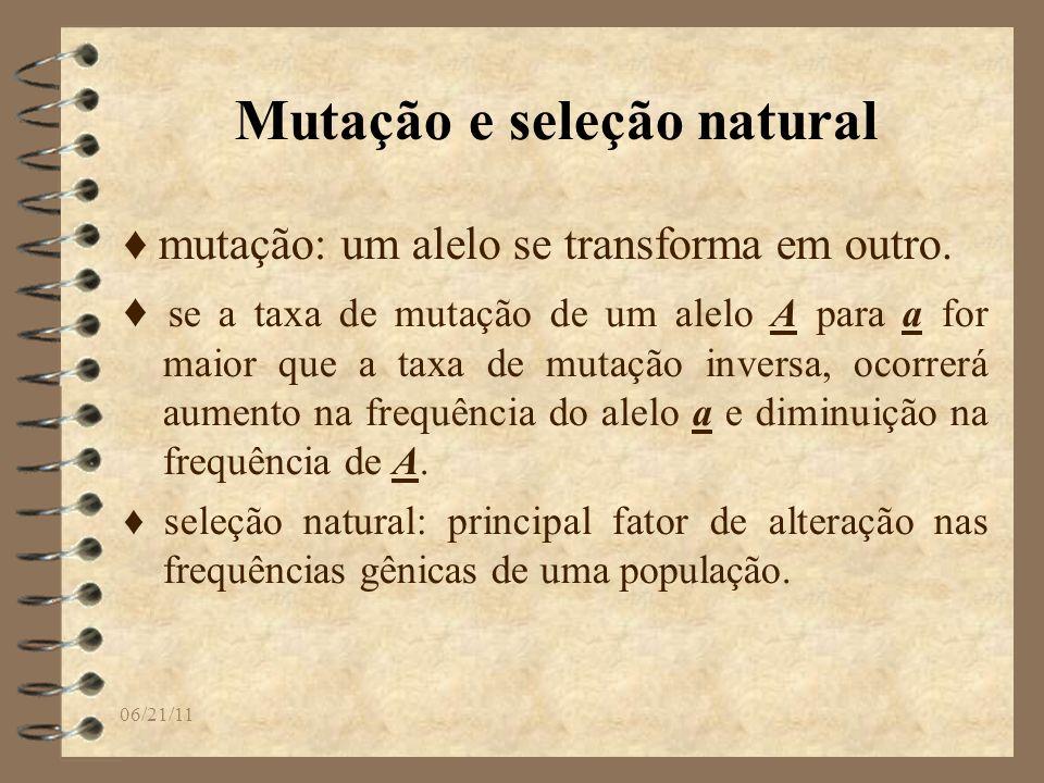 Mutação e seleção natural