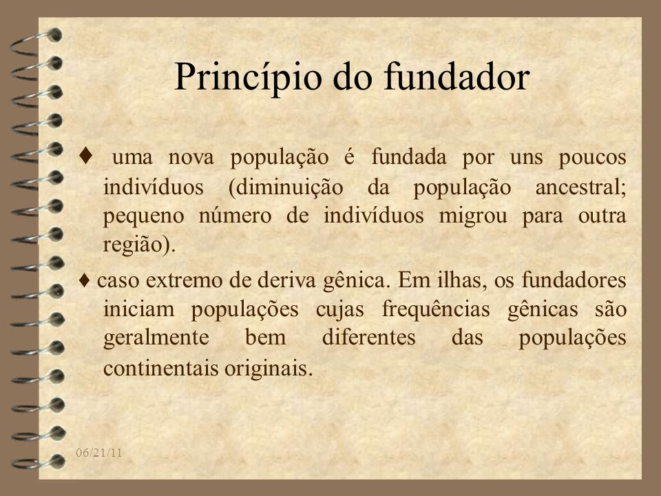Princípio do fundador