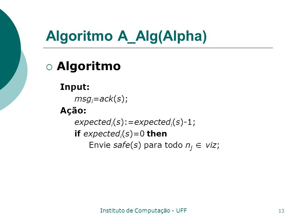 Algoritmo A_Alg(Alpha)