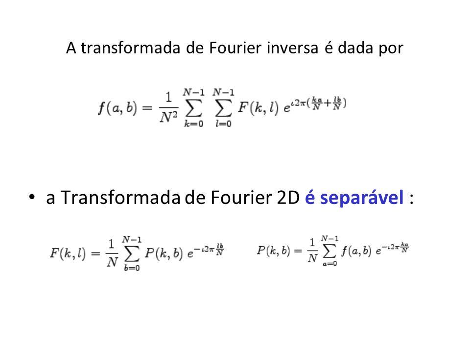 A transformada de Fourier inversa é dada por