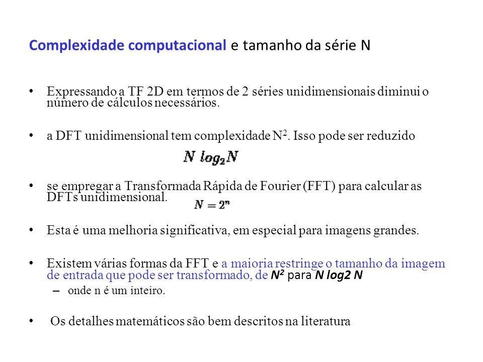 Complexidade computacional e tamanho da série N
