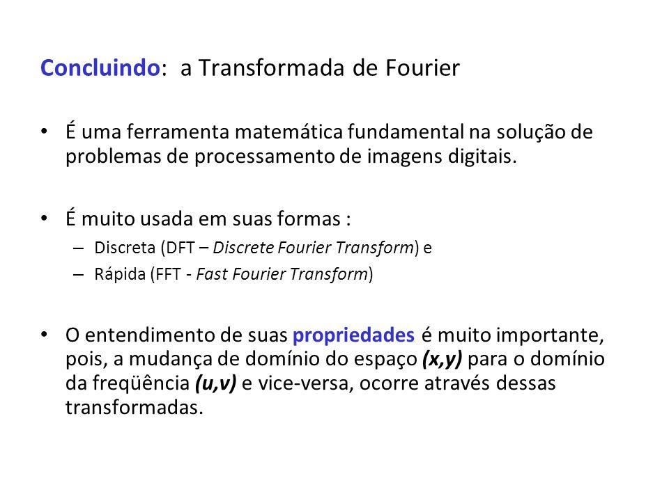 Concluindo: a Transformada de Fourier