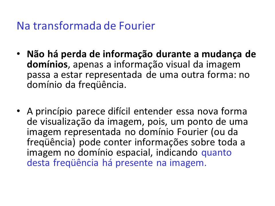 Na transformada de Fourier