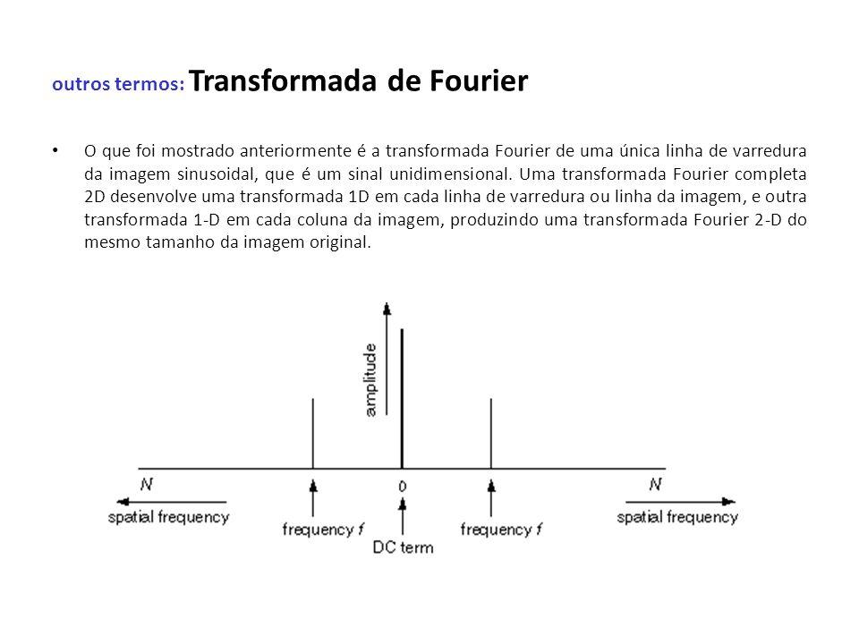 outros termos: Transformada de Fourier