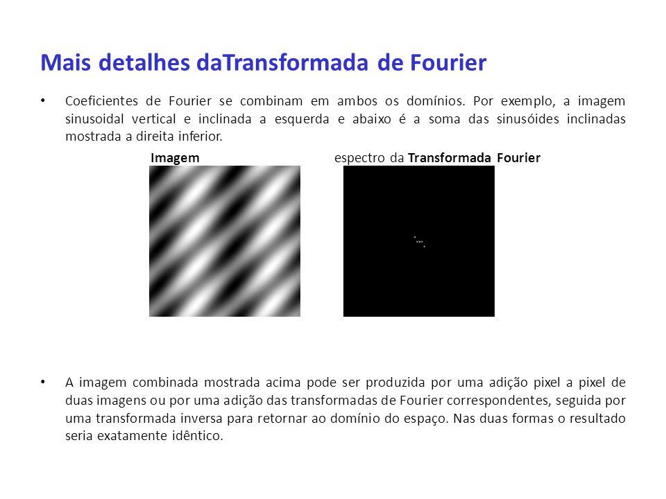 Mais detalhes daTransformada de Fourier