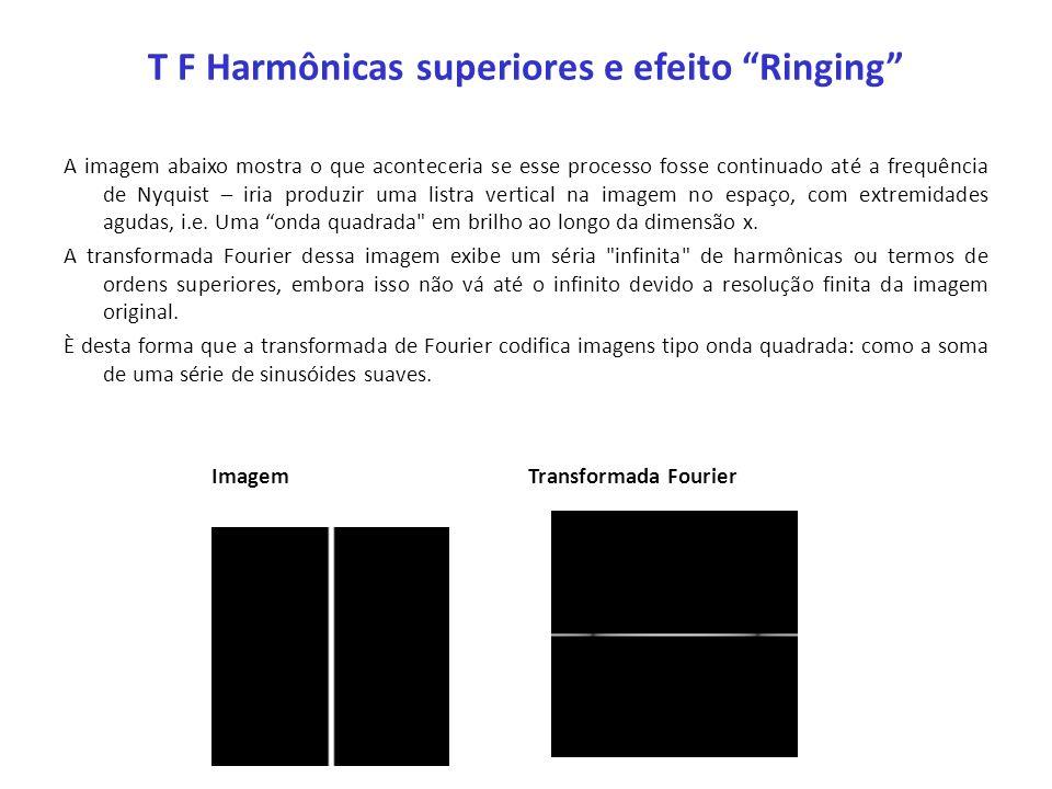 T F Harmônicas superiores e efeito Ringing