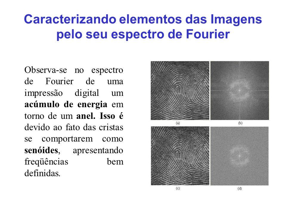 Caracterizando elementos das Imagens pelo seu espectro de Fourier
