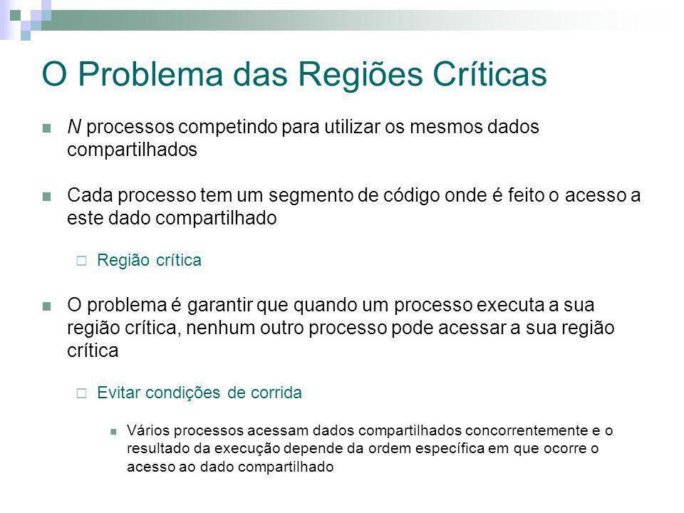 O Problema das Regiões Críticas