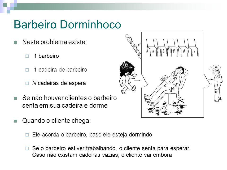 Barbeiro Dorminhoco Neste problema existe: