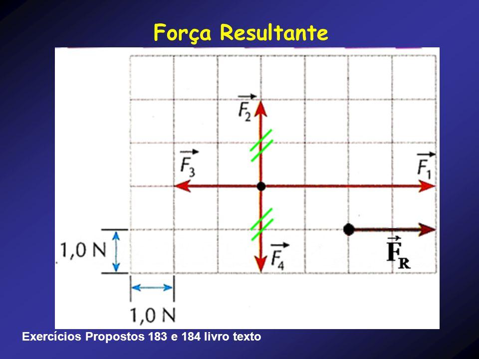 Força Resultante Exercícios Propostos 183 e 184 livro texto