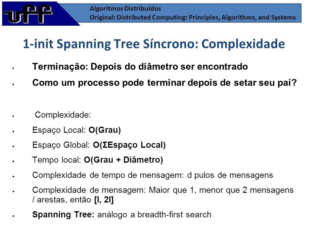 1-init Spanning Tree Síncrono: Complexidade