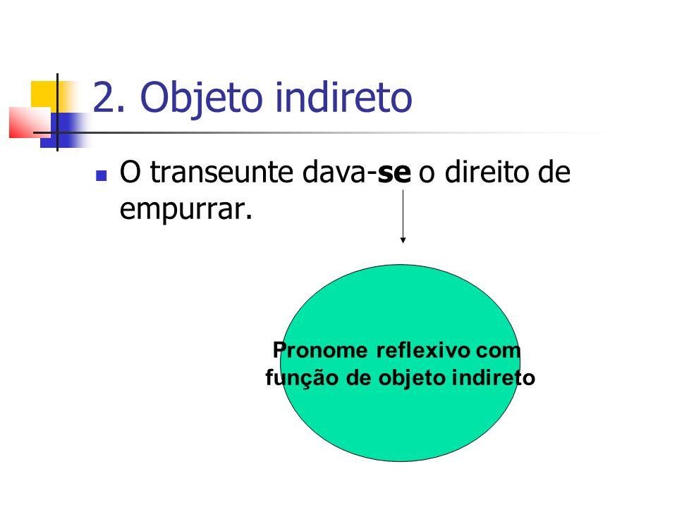 função de objeto indireto