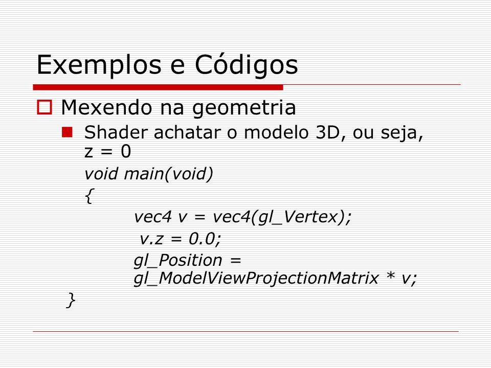 Exemplos e Códigos Mexendo na geometria