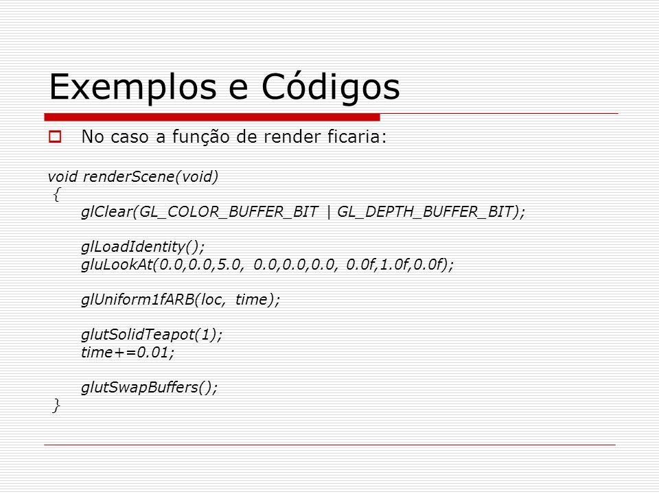 Exemplos e Códigos No caso a função de render ficaria: