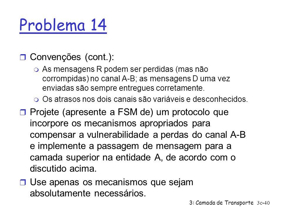 Problema 14 Convenções (cont.):