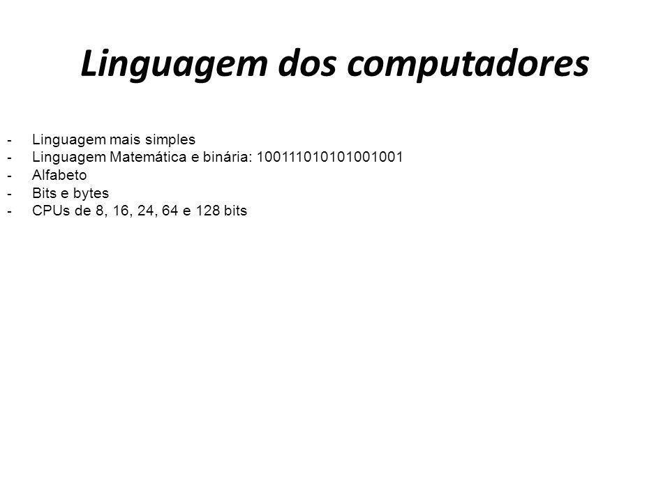 Linguagem dos computadores