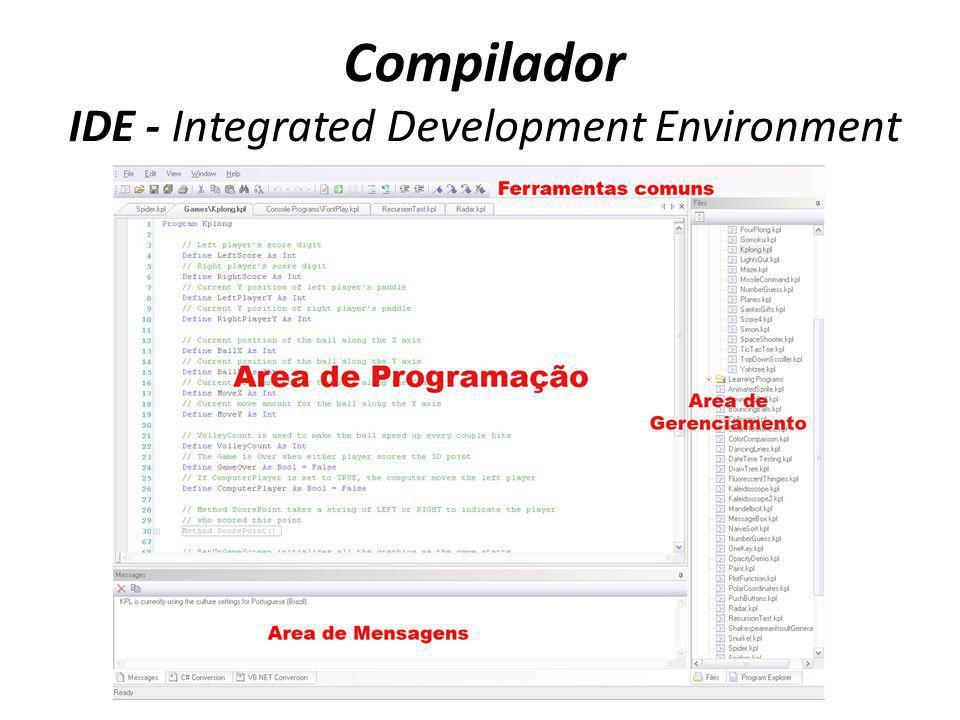 Compilador IDE - Integrated Development Environment
