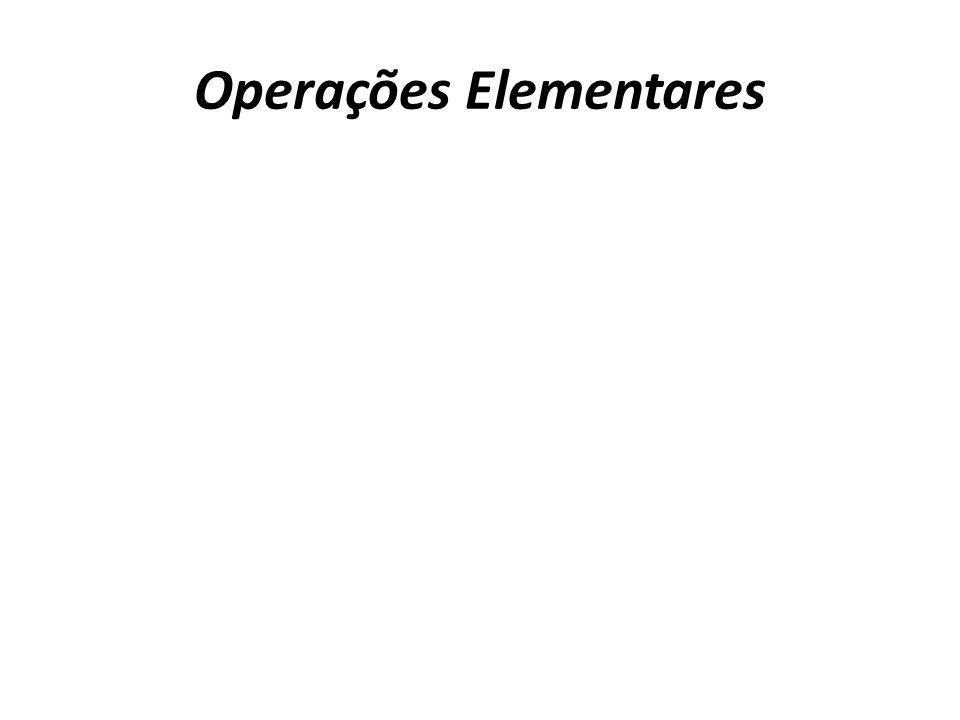 Operações Elementares
