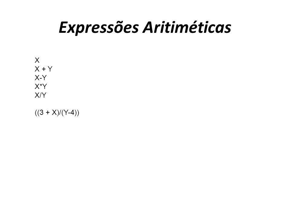 Expressões Aritiméticas