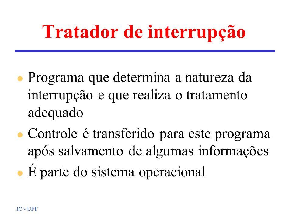 Tratador de interrupção