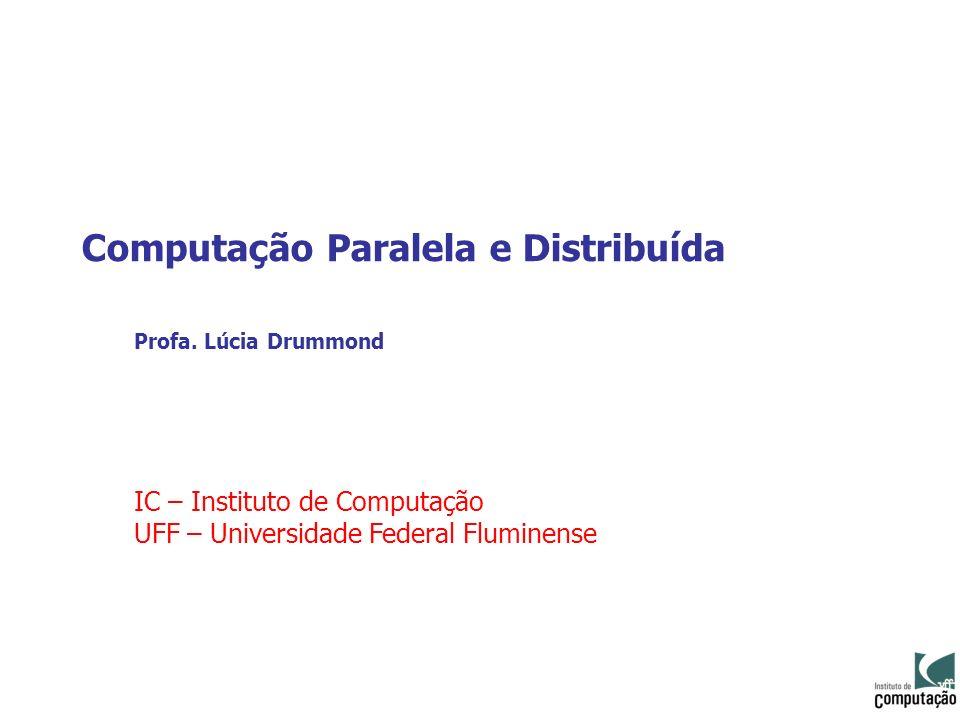 Computação Paralela e Distribuída