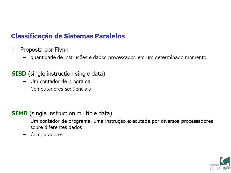 Classificação de Sistemas Paralelos