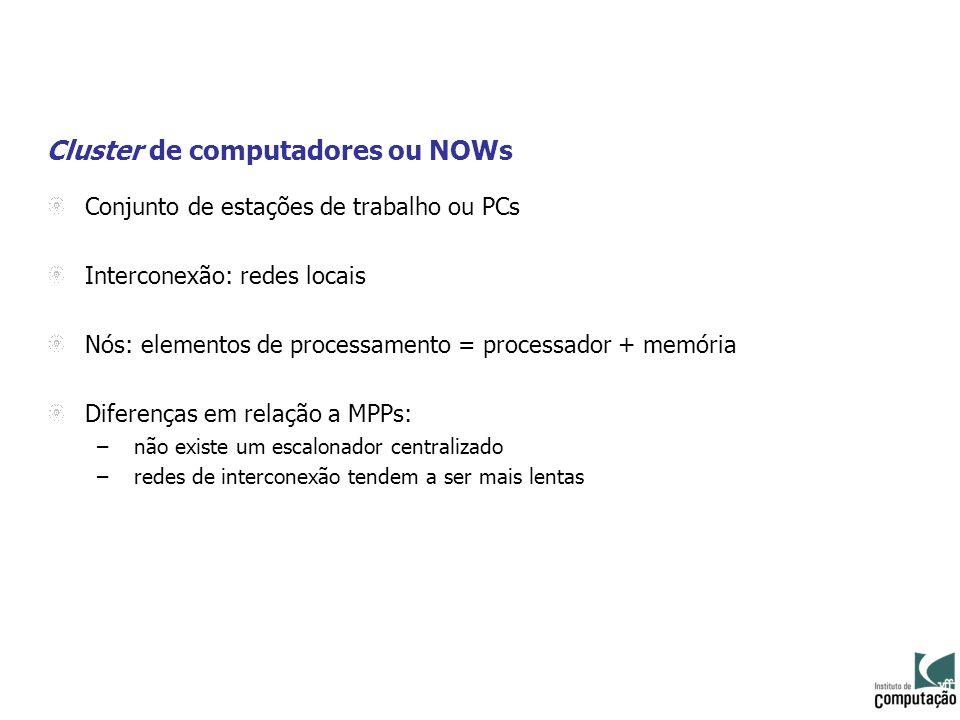 Cluster de computadores ou NOWs