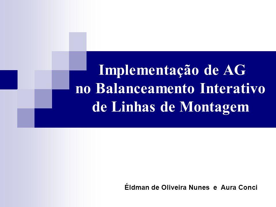 Implementação de AG no Balanceamento Interativo de Linhas de Montagem