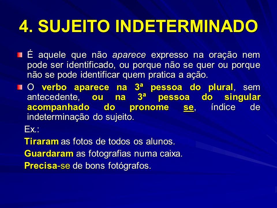 4. SUJEITO INDETERMINADO