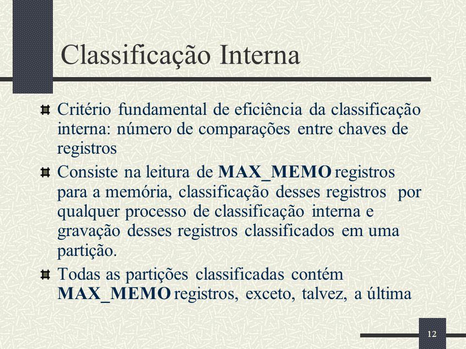 Classificação Interna