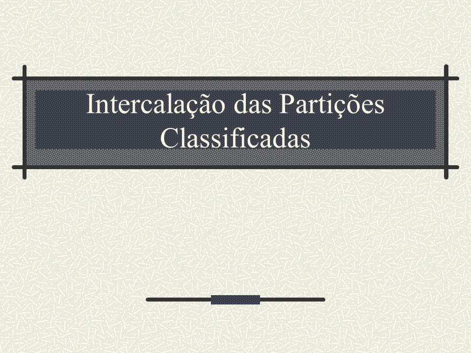 Intercalação das Partições Classificadas