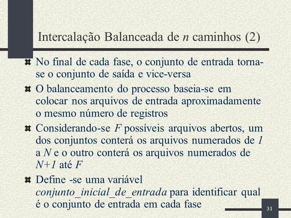 Intercalação Balanceada de n caminhos (2)