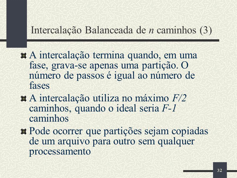 Intercalação Balanceada de n caminhos (3)