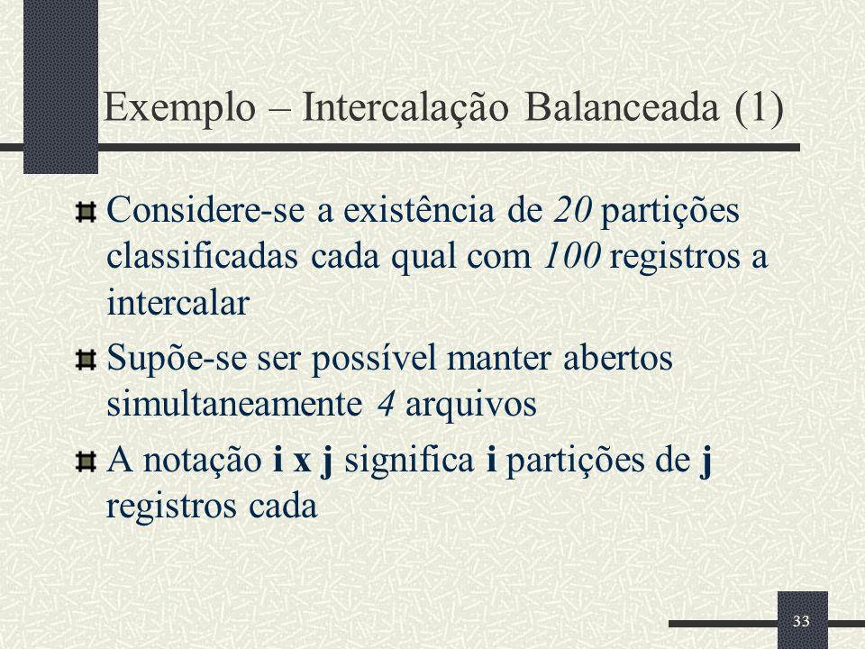 Exemplo – Intercalação Balanceada (1)