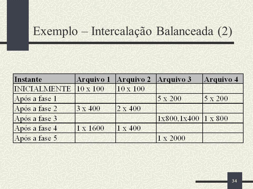 Exemplo – Intercalação Balanceada (2)