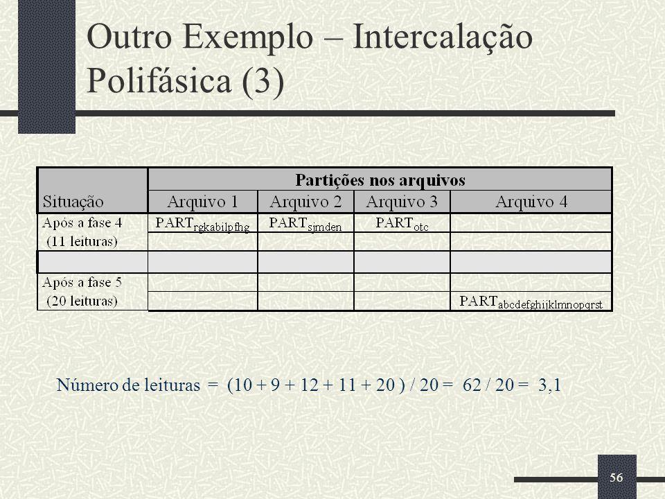 Outro Exemplo – Intercalação Polifásica (3)