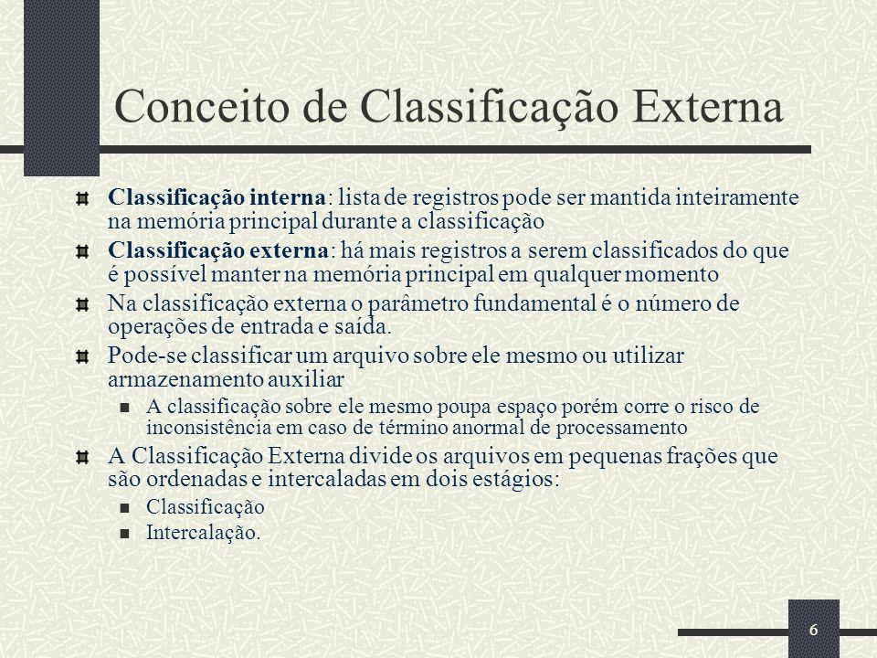 Conceito de Classificação Externa