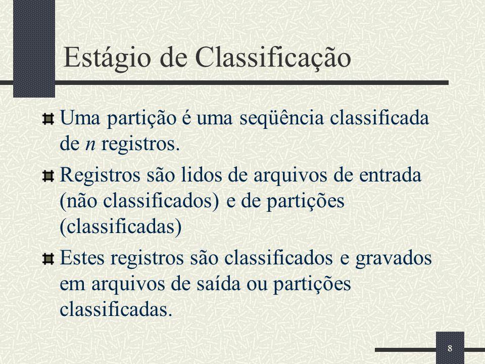 Estágio de Classificação