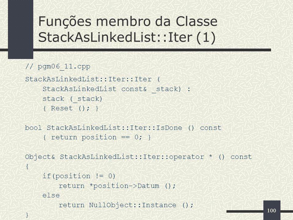 Funções membro da Classe StackAsLinkedList::Iter (1)