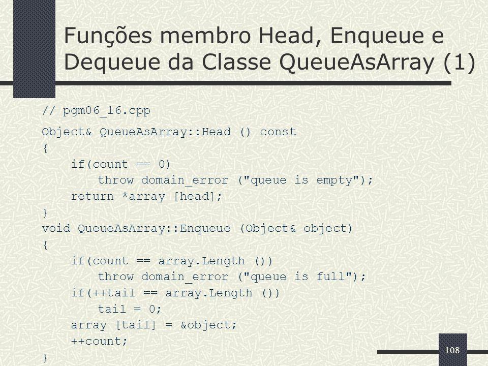 Funções membro Head, Enqueue e Dequeue da Classe QueueAsArray (1)