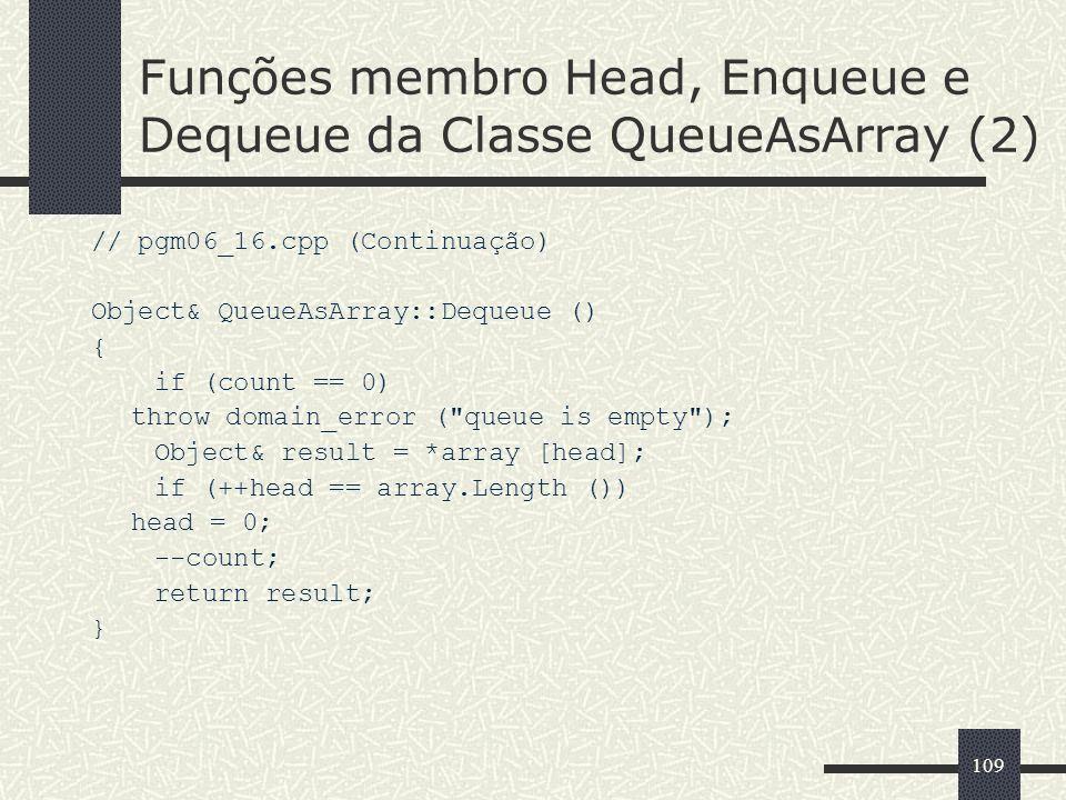 Funções membro Head, Enqueue e Dequeue da Classe QueueAsArray (2)