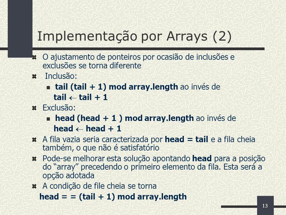 Implementação por Arrays (2)