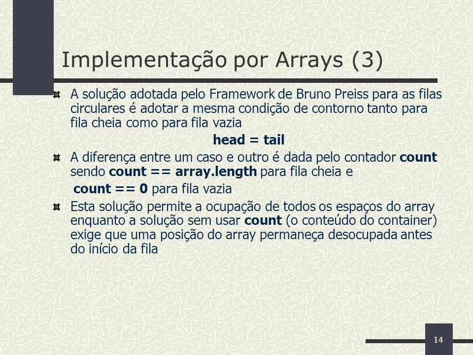 Implementação por Arrays (3)