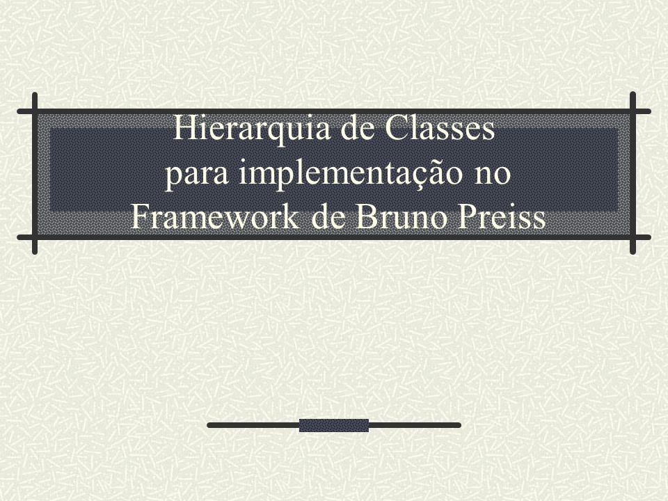 Hierarquia de Classes para implementação no Framework de Bruno Preiss