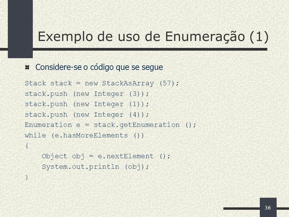 Exemplo de uso de Enumeração (1)